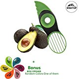 Avocado Affettatrice, 3 in 1 Tagli di Verdure Fette di Frutta Sharp della Frutta Avocado Mango Papaya Pitter Peeler